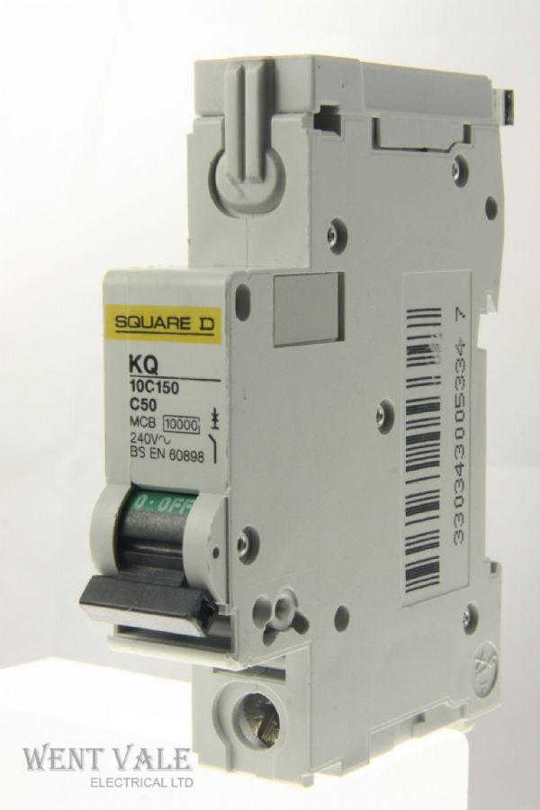 Square D Loadcentre - KQ10B150 - 50a Type B Single Pole MCB Used